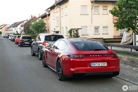 porsche panamera turbo red 2018 porsche panamera turbo s e hybrid spotted in germany