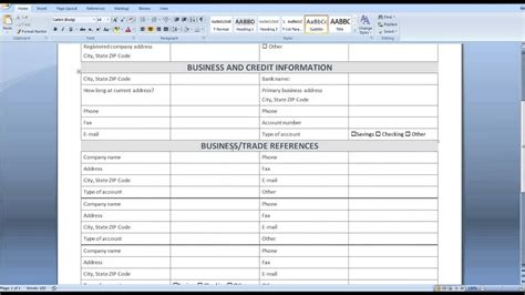 Credit Default Template credit application form template