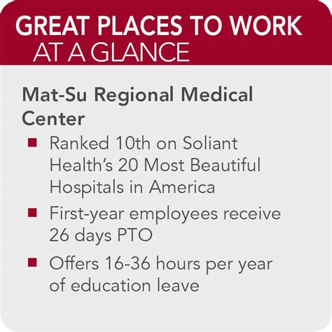 Mat Su Hospital by Mat Su Regional Center 150 Great Places To Work