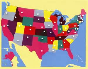us geography puzzle map montessori materials puzzle map of usa