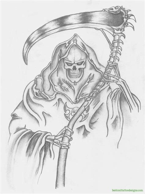 reaper tattoo design reapers archives best cool designs