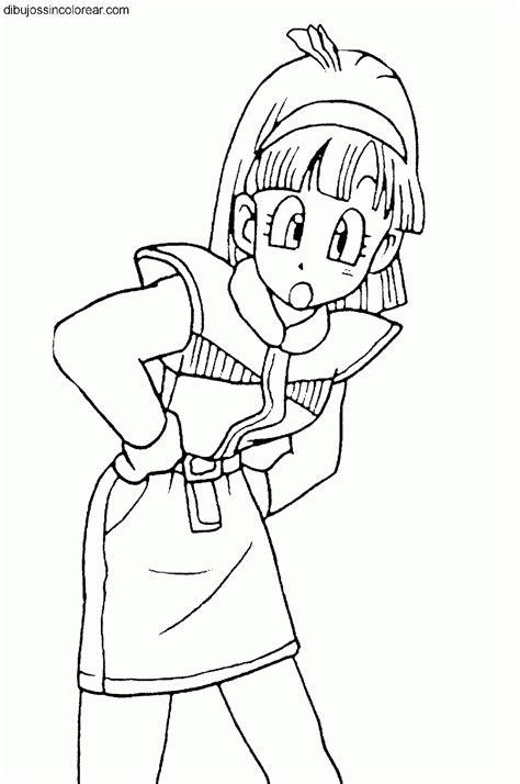 Dibujos de Bulma (Dragonball) para colorear