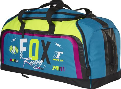 fox motocross gear bags fox racing teal blue yellow black podium rohr dirt bike
