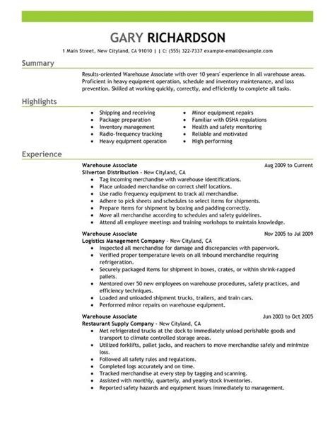 warehouse worker sample resume warehouse worker cover letter