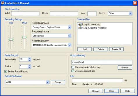 format audio mid converting guitar pro files gp3 and gp4 to midi and audio