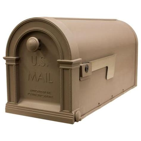 gibraltar mailboxes laurel decorative mocha latte plastic