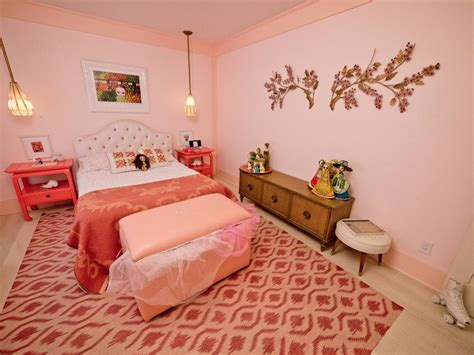 paint colors for girl bedrooms girly retro inspired pink bedroom hgtv