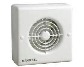 Bathroom Extractor Fan Always On Xf100a Manrose 100mm 4 Quot Automatic Shutter Standard Wall