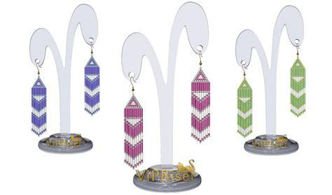 beaded fringe earrings tutorial beaded fringe earrings 3d tutorial