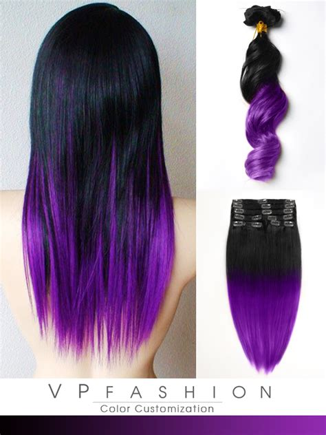 hair extensions purple brown purple ombre hair extensions weft hair