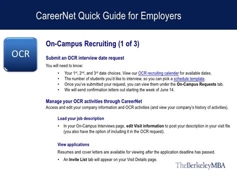 Uc Berkeley Mba Employment Report by Careernet Guide For Berkeley Mba Employers