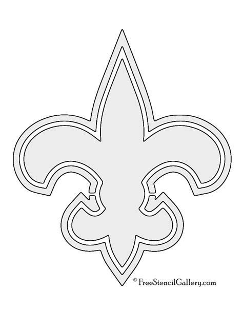 nfl saints coloring pages nfl new orleans saints stencil free stencil gallery
