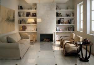 Tile Flooring Ideas For Living Room Sophisticated Living Room Brown White Floor Tile Interior Design Ideas