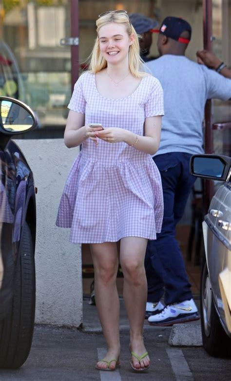 Elle Fanning Print Dress   Elle Fanning Looks   StyleBistro