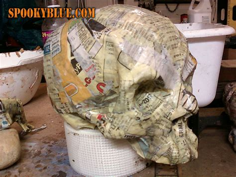 How To Make Paper Mache Bones - spookyblue 187 paper mache skeleton