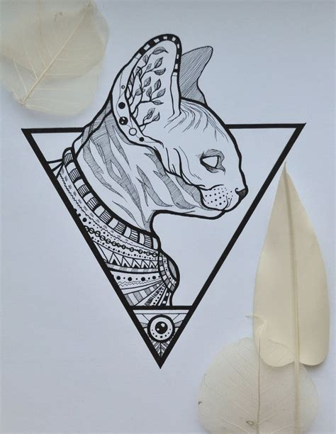 tattoo pen in egypt sphynx cat by nika sugarcandy on deviantart
