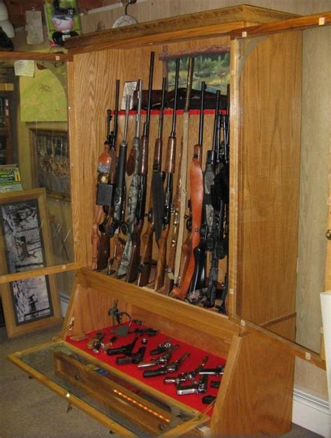 diy gun cabinets display cabinet plans  guest