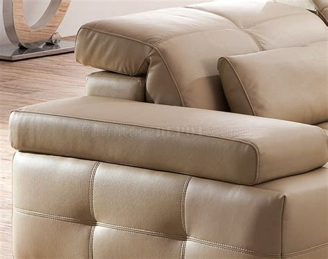 s812 a sectional sofa in light brown leather by pantek