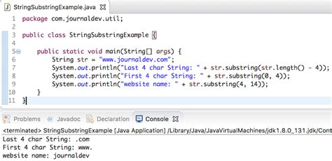 java string substring journaldev