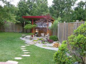 backyard pavilion plans landscape contemporary with