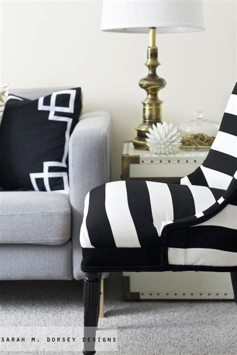 Black And White Striped Chairs by M Dorsey Designs Black And White Stripe Chair