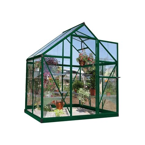 palram snap and grow 6 ft x 12 ft silver polycarbonate