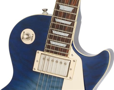 Epiphone Les Paul Standard Quilt Top Pro by Epiphone Les Paul Standard Quilt Top Pro Trans Blue Keymusic