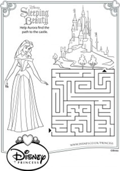 princess maze coloring page sleeping beauty disney downloads for your kids to enjoy