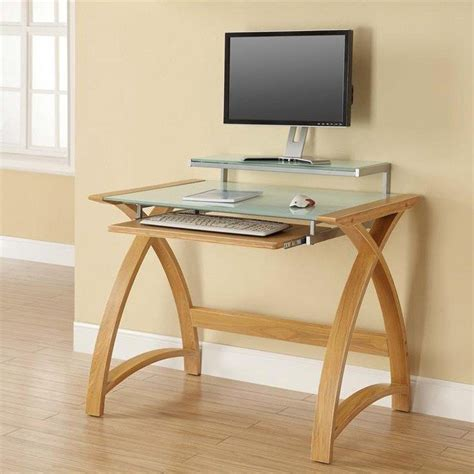 24 inch computer desk jual helsinki curved 900mm wide computer desk in oak with