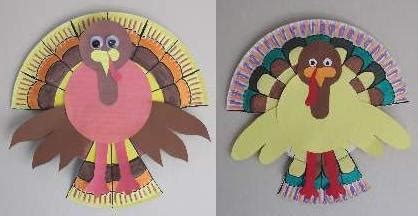 How To Make Turkeys Out Of Paper Plates - paper plate turkey