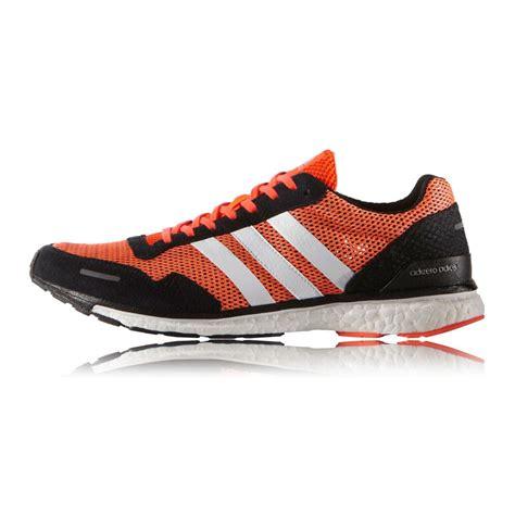 orange sneakers mens adidas adizero adios 3 mens orange black sneakers running