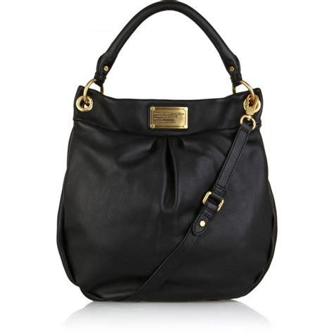 500 marc by marc black gold leather hobo hillier shoulder crossbody bag lust4labels