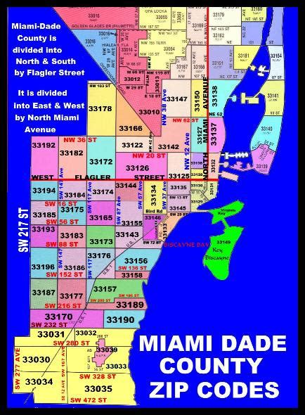miami zip code map zip code maps free color and printable