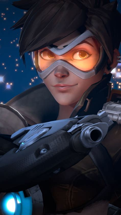 wallpaper tracer offense hero overwatch games