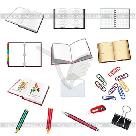 Office Clip Collection by Collection Of Stationery For The Office Vector Clip