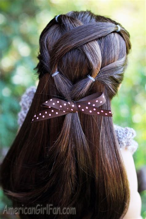easy hairstyles for american dolls with hair doll hairstyle criss cross ponytail veil americangirlfan