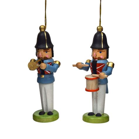 Miniatur Nutcracker Musik Miniature Nutcracker Drummer Hanging Ornament From The