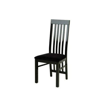 Black Gloss Dining Chairs Zone Dazzle High Gloss Black Slat Back Dining Chair Furniture123