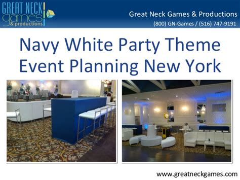 Mba Event Planning New York by Navy White Theme Event Planning New York