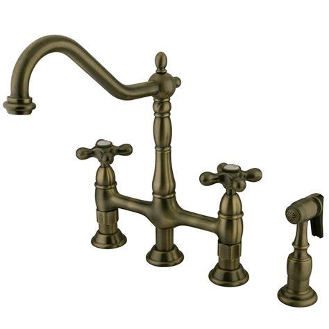 kingston brass victorian lever  handle bridge kitchen