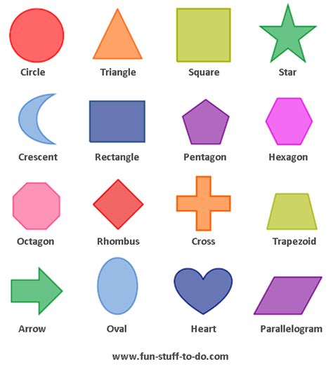 printable shapes with color geometric shapes worksheets free to print