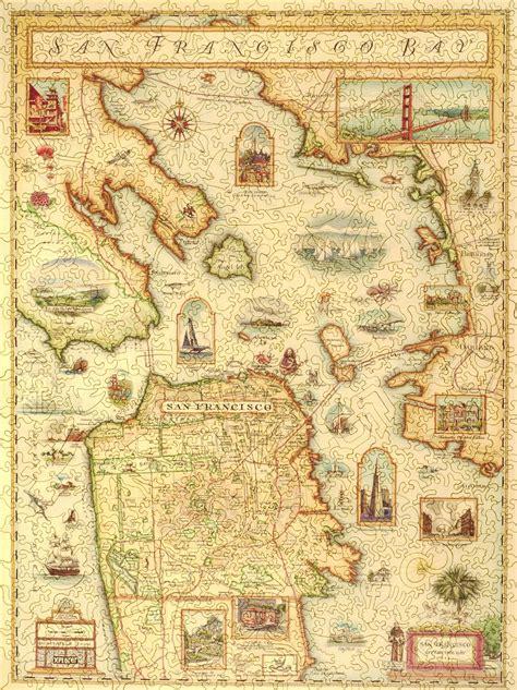 san francisco map puzzle san francisco bay map wooden jigsaw puzzle liberty