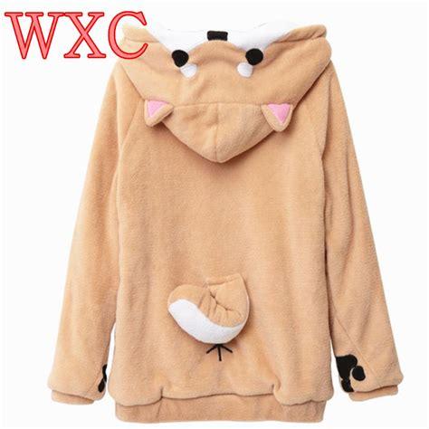 Jacket Sweater Hoodies 6 doge hoodies ear hoodie pouch s clothing pullover sweatshirt vetement kawaii