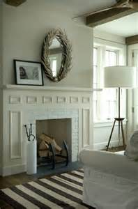 mirrors above fireplace cottage living room benjamin