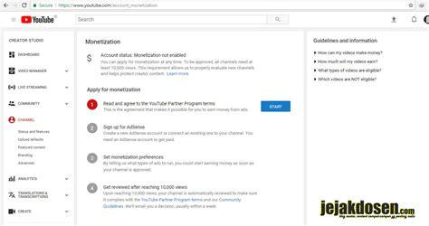 adsense youtube cara cara daftar google adsense lewat youtube dengan mudah