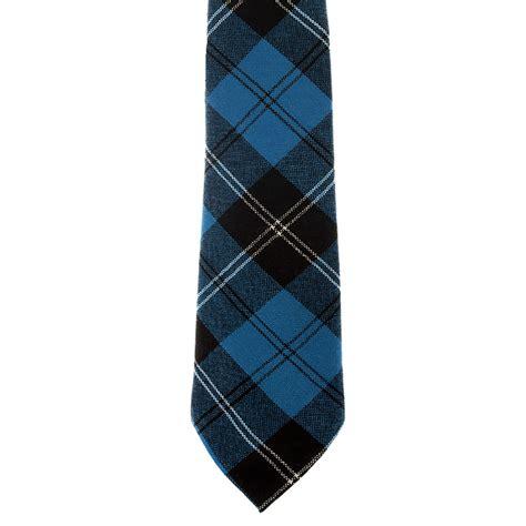 ramsay blue tartan tie 100 wool plaid tie