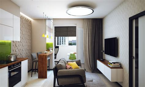Minimalist 1 Bedroom Apartment Designed For A Young Man 1 Bedroom Apartment Interior Design