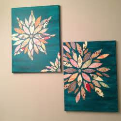 Painting Over Canvas Wall Art Wall Art Made From Canvas Acrylic Paint And Scrap Paper