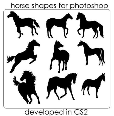 horse templates for photoshop 12 sets of animal photoshop custom shapes enfew