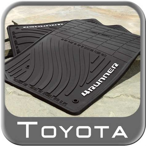 Toyota All Weather Floor Mats 2013 2016 Toyota 4runner Rubber Floor Mats All Weather Black